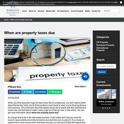 When are property taxes due