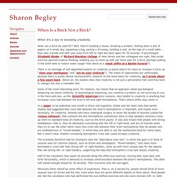 When Is a Brick Not a Brick? - Sharon Begley