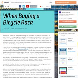 When Buying a Bicycle Rack