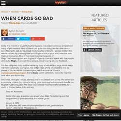 When Cards Go Bad