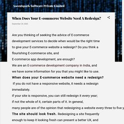 When Does Your E-commerce Website Need A Redesign?