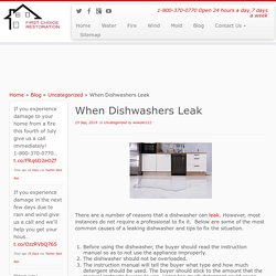 When Dishwashers Leak