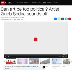 When does art become too political?