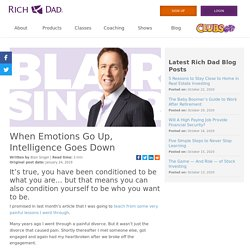 When Emotions Go Up, Intelligence Goes Down