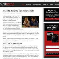 When to Have the Relationship Talk