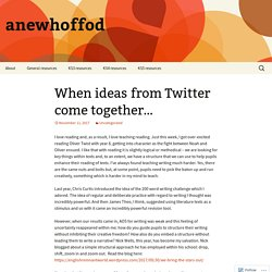 When ideas from Twitter come together… – anewhoffod