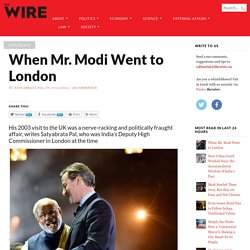 When Mr. Modi Went to London