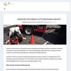 When Do You Need a Cctv Drainage Survey?