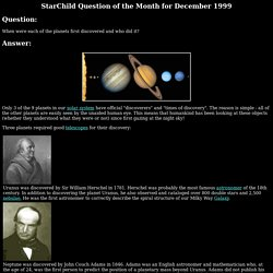When were each of the planets first discovered and who did it?