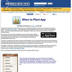 When to Plant App