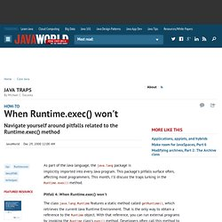 When Runtime.exec() won't