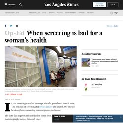 When screening is bad for a woman's health