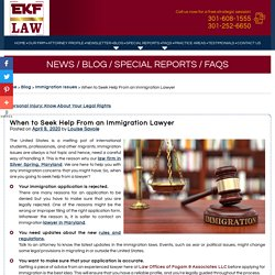 When to Seek Help From an Immigration Lawyer