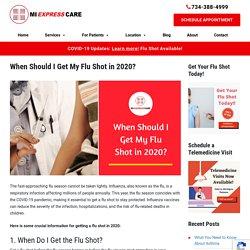 When Should You Get a Flu Shot in 2020?
