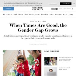 When Times Are Good, the Gender Gap Grows