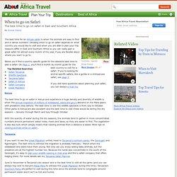 When to go on Safari - Safari in Africa, When to go