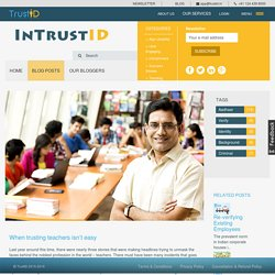 When trusting teachers isn't easy