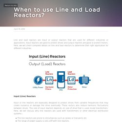 Know more about line and load reactors