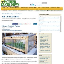 When to Vent Cold Frames