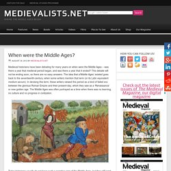 When were the Middle Ages?