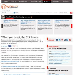When you tweet, the CIA listens