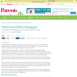 When Your Child is Kidnapped