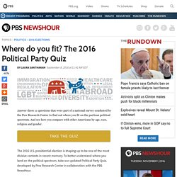 Where do you fit? The 2016 Political Party Quiz