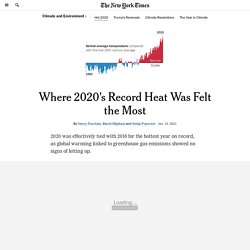 Where 2020's Record Heat Was Felt the Most