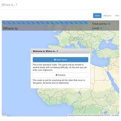Where is...? A geolocation game