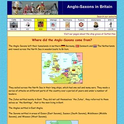 Where did the Anglo-Saxons come from?