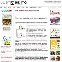 Where (and how) to buy bento boxes and accessories