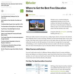 Where to Get the Best Free Education Online