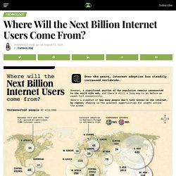 Here's how internet users breakdown across the world