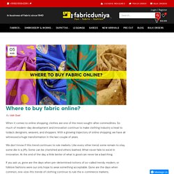 Where to buy fabric online? – Fabric Duniya