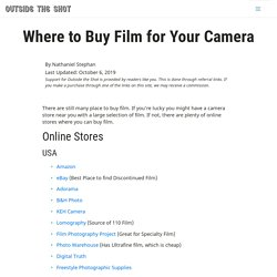 Where to Buy Film for Your Camera