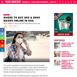 Where to Buy N95 and KN95 Masks Online in USA