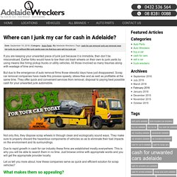 Where can I junk my car for cash in Adelaide? -