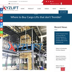 Where to Buy Cargo Lifts that don't Tremble? - XYZLIFT