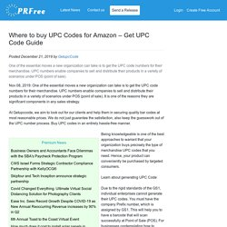 Where to buy UPC Codes for Amazon – Get UPC Code Guide