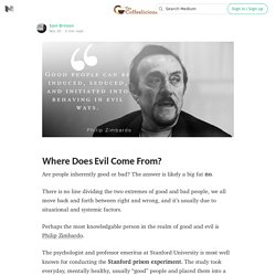 Where Does Evil Come From? — The Coffeelicious