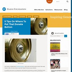 5 Tips on Where to Put that Donate Button