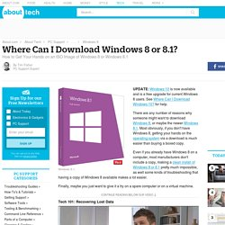 Where Can I Download Windows 8 or 8.1? (Free & Legally)