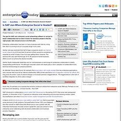 Is SAP Jam Where Enterprise Social Is Headed?