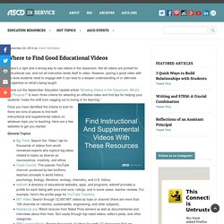Where to Find Good Educational Videos