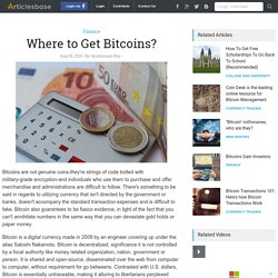 Where to Get Bitcoins?