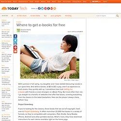 Where to get e-books for free