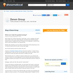 Where can I make the greatest savings? / Blog of Zenon Group - Robina, QLD 4226 - 1300 093 666