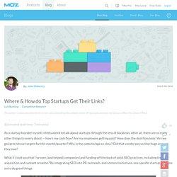 Where & How do Top Startups Get Their Links?