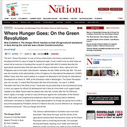 Where Hunger Goes: On the Green Revolution