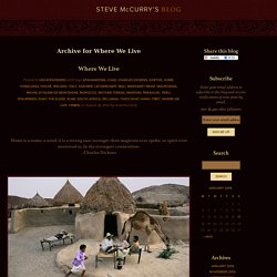 Steve McCurry's Blog